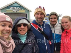Ein Selfie mit Einwohnern in Toquay